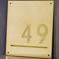 Contemporary Brass House Number