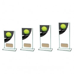 Glass Colour Curve Tennis Trophy