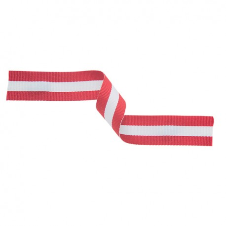 Red, White and Red Medal Ribbon