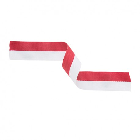 Red and White Medal Ribbon