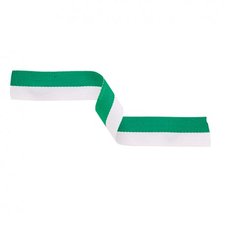 Green and White Medal Ribbon