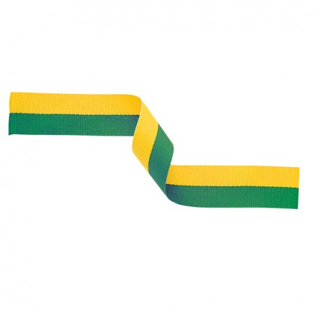 Green and Gold Medal Ribbon