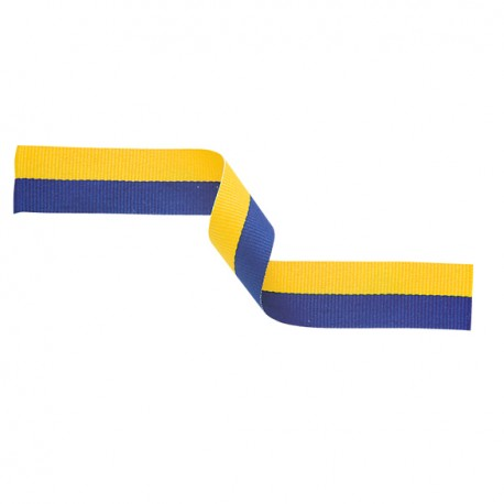 Blue and Yellow Medal Ribbon