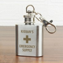 Engraved Mini Hip Flask Emergency Supply