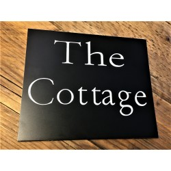 Engraved House Sign Black Laminate