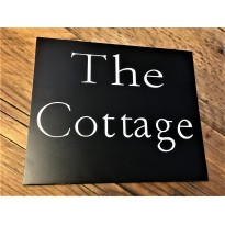 Engraved House Sign Black Laminate 5 x 6