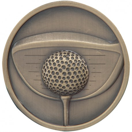 Gold Golf Driver Medal