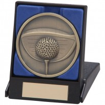 Boxed Gold Golf Driver Medal
