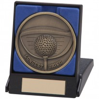 Boxed Longest Drive Golf Medal
