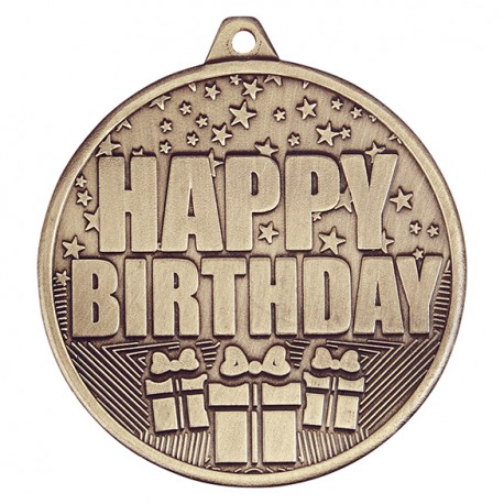 Cascade Happy Birthday Medal