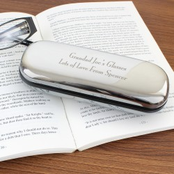 Engraved Glasses Case Silver