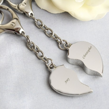 Joined Heart key Rings