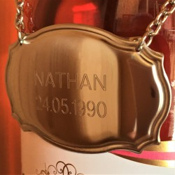 Bottle Label Neck Tag Engraved Message