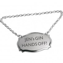 Hands Off Personalised Bottle Tag Label
