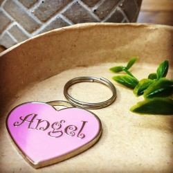 Angel Heart Dog ID Tag