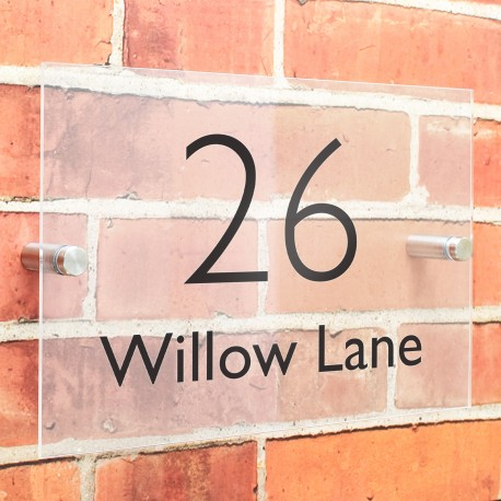 Personalised Modern Acrylic house Number Sign