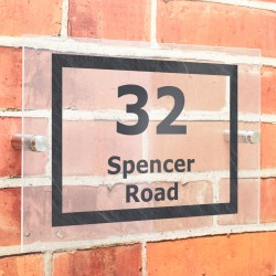 Personalised Marble Effect Acrylic house Number Sign