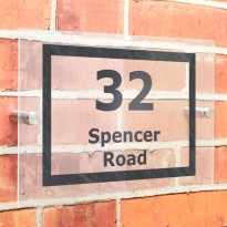 Marble Effect Acrylic house Number Sign