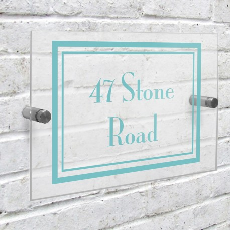 Personalised Art Deco Acrylic House Number Sign