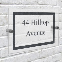 Personalised Slate Effect Acrylic house Number Sign