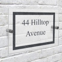 Slate Effect Acrylic house Number Sign