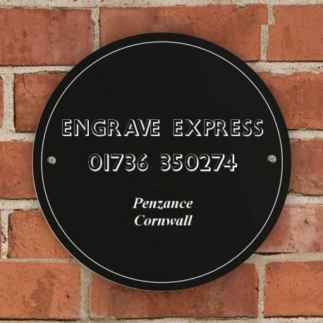 Black House and Garden Sign