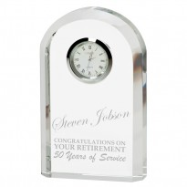 Personalised Eternity Crystal Clock