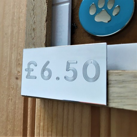 Engraved Price Labels