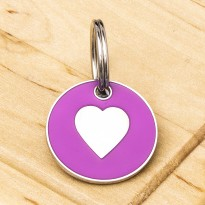 Pink Heart Dog Id Tag