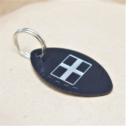 St Pirans Flag Rugby Ball Pet Tag