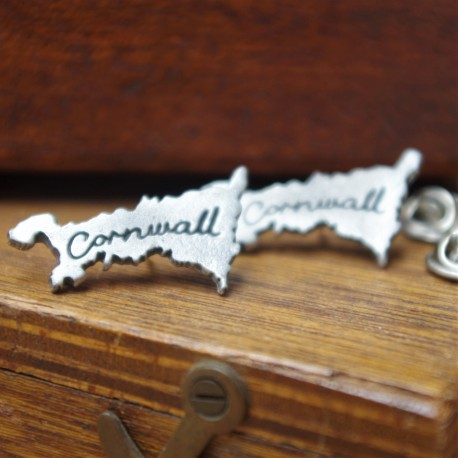 Cornwall Map lapel Pin