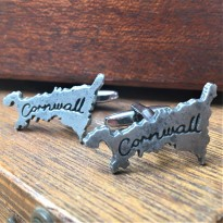 Cornwall Map Cufflinks