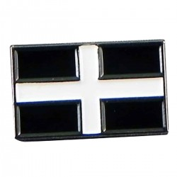 Flag of Cornwall St Piran Flag lapel Pin