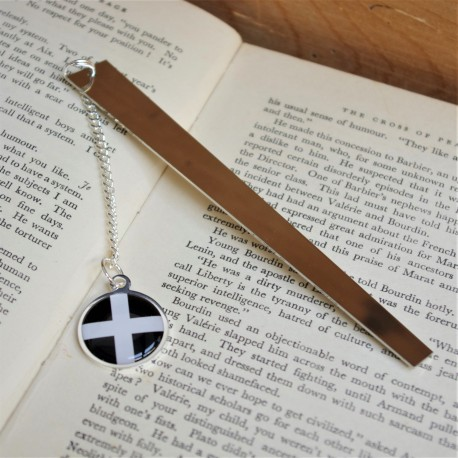 Cornish Flag Book Mark Silver Plated