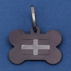 Cornish Flag Bone Pet Id Tag