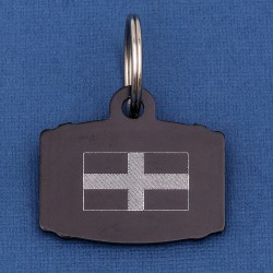 Cornish St Pirans Flag Pet Id Tag Barrel