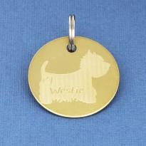West Highland Terrier ID Brass Tag