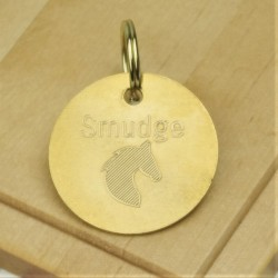 Horse Tack Bridle Saddle Tag Brass
