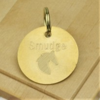 Brass Horse Tack Bridle Saddle Tag