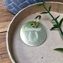 Brass Horse Shoe Bridle Tag
