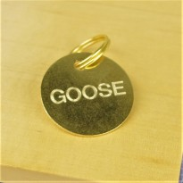 32mm Engraved Brass Pet Tag