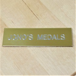 5cm x 1.5cm Engraved Aluminium Plaque