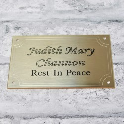 Brass Plaque With Border 5x4
