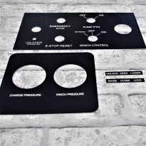 Engraved Acrylic Panels Machine Labels