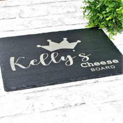 Crown Personalised Slate Board