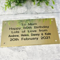 Brass Plaque Engraved Sign 5x3