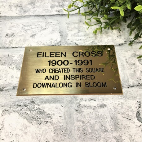 Solid Brass Plaque Engraved Sign