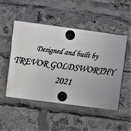 Engraved Brushed Silver Acrylic Plaque
