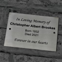 Brushed Stainless Steel Plaque Engraved Sign 7x5