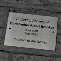 Brushed Stainless Steel Plaque 14.5cm x 10.5cm